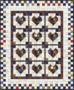 Scrappy Heart Quilt Pattern