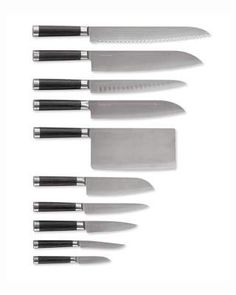 Michel Bras 10-Piece Knife Set #layers#composed#finish