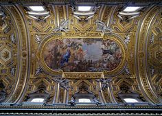 Rom, Chiesa Nuova oder Santa Maria in Vallicella, Decke des Hauptschiffs (ceiling of the center nave) | da HEN-Magonza