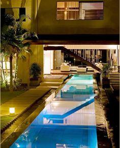 Indoor outdoor open concept with pool