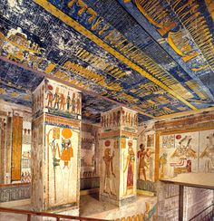 """Tomb of Ramesses VI, Valley of the Kings, Luxor. Ancient Egypt History, Ancient Ruins, Ancient Artifacts, Ancient Greece, Ancient Egyptian Architecture, Old Egypt, Valley Of The Kings, Egypt Travel, Egyptian Art"