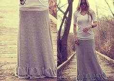 8. Bottom Ruffles - 10 Sweet DIY Maxi Skirts to Sew … |Lifestyle