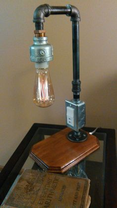 edison bulb desk lamp with two usb charge ports by