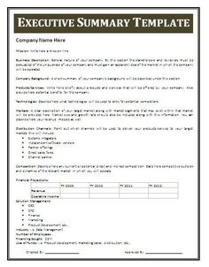 Examples Of Executive Summaries 31 Executive Summary Templates Free Sample  Example Format, 30 Perfect Executive Summary Examples Templates Template  Lab, ...  Business Summary Template