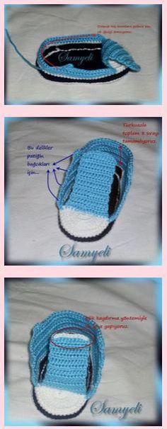 Tığ işi Converse  patik yapılışı 9 Friendship Bracelets, Knitting, Crochet, Kids, Jewelry, Clothing, Fashion, Shoes, Amigurumi