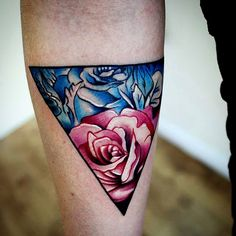triangle and flower tattoo - Google Search