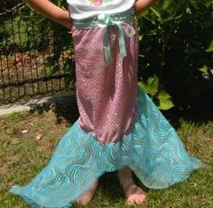 Tutorial: Mermaid tail wrap skirt for little girls – Sewing