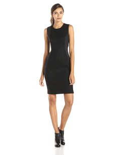 Calvin Klein Women's Sleeveless Pleated-Front Sheath Dress ** This is an Amazon Affiliate link. For more information, visit image link.
