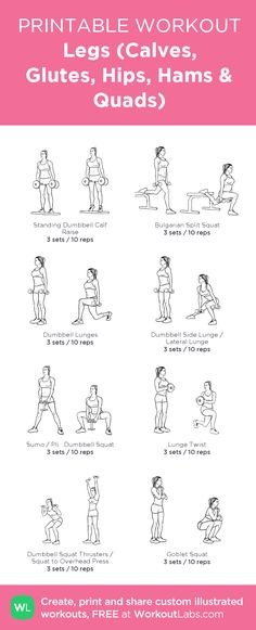 """Plan Skinny Workout - Legs (Calves, Glutes, Hip Flexors, Hamstrings Quads) Watch this Unusual Presentation for the Amazing to Skinny"""" Secret of a California Working Mom Fitness Workouts, Fitness Motivation, Fitness Legs, Leg Workout Women, Leg Workout At Home, At Home Hamstring Workout, Glute And Hamstring Workout, Woman Workout, Hip Workout"""