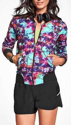 great colorful purple workout jacket
