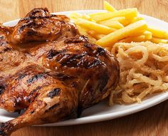 Try our famous ribs or one of the many items off our sizzling grill menu. Served with Spur-style crispy onion rings and chips OR a baked potato. Butterflied Chicken, Spatchcock Chicken, Crispy Onions, Hearty Meal, Grills, Baked Potato, Turkey, Menu, Salad