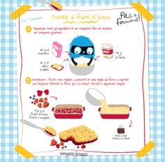 Torna la ricetta golosa di Petit-Fernand: oggi il crumble ai frutti di bosco! Ricetta illustrata solo su Petit-Fernand!
