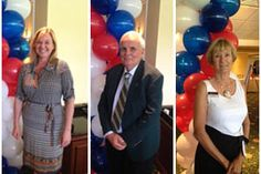 Priscilla Baldwin, Joan Rogers and Rick Boschen are recognized during the Realtor Association of Martin County's 2015 Annual Installation & Awards Luncheon last week. www.bhhsfloridarealty.com