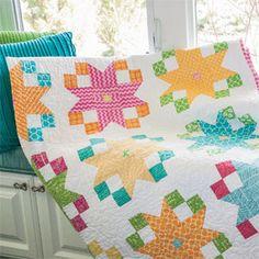 Star Flower Block: FREE Quilt Block Pattern