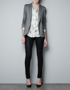 SINGLE BUTTON BLAZER - Stock clearance - Woman - ZARA United States