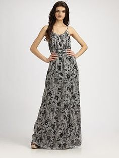Theory Musea Printed Maxi Dress (Saks 5th Ave)