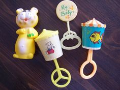 Vintage baby rattles.