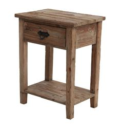 Rustic Oak Bedside Table - The Finer Things - on Temple & Webster today