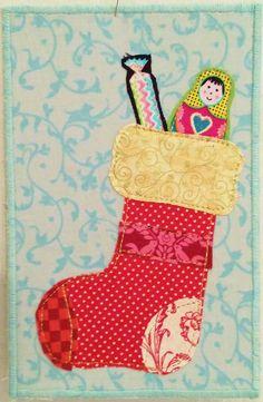 Greeting card Christmas postcard birthday card by poppyshome