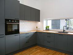 Design Moderne, Cuisines Design, Kitchen Cabinets, Interiors, Home Decor, Modern Kitchens, Trendy Tree, Kitchen Modern, Decoration Home