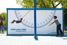 SIGN SWING: interaction advertisement WITHOUT TECHNOLOGY_Cramer-Krasselt for COA Youth & Family Centers