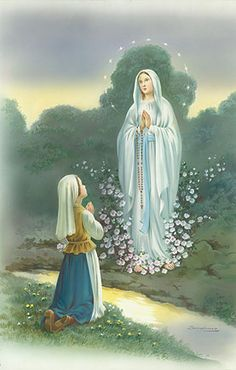 Our Lady of Lourdes, Patron Saint of Illness and Healing ~ Virgin Mary Mother of God Wrap Your Loving Arms Around Marie And Let Her Feel Your Calming Embrace Amen  As soon as I awoke today I thought of you and prayed to St. Peregrine for you Marie! Xo my friend GBU