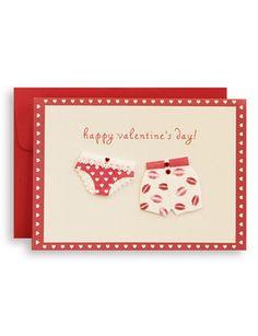 Handmade Valentine Card, Underwear