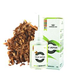 E-LIQUID - ORIGINAL TOBACCO € 3.80 This is one of our tobacco news from True Vapor which we are sure will contribute positively to our tobacco portfolio.  Genuine Tobacco is a delicious tobacco flavor from True Vapor.  The taste has a very authentic tobacco flavor and gives a nice mellow vapor (smoke). This makes it feel like smoking a real cigarette when you smoke this e-liquid. Sometimes it can be hard to believe that only steam and not smoke.