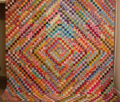 nifty quilts: this is her scrappy trip around the world. it's wonderful!