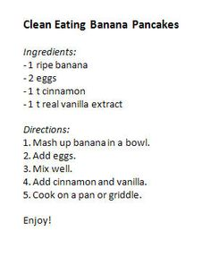 Clean eating pancakes. Simple! That's what clean eating is about!