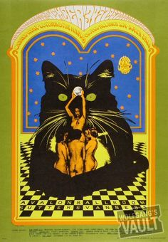 Canned Heat Vintage Concert Poster, Avalon Ballroom (San Francisco, CA) Nov 3, 1967 (FD090-PO). Art by Bob Fried and Grant Jacobs. http://www.wolfgangsvault.com/canned-heat/poster-art/poster/FD090.html