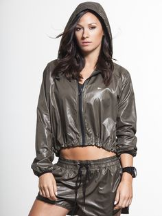 Barre Jacket in Khaki by The Upside from Carbon38