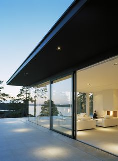 The Glass House in Stockholm Archipelago / John Robert Nilsson Architectural Office - House Architecture Architecture Panel, Modern Architecture House, Futuristic Architecture, Architecture Design, Chinese Architecture, Drawing Architecture, Architecture Portfolio, Modern Exterior, Exterior Design