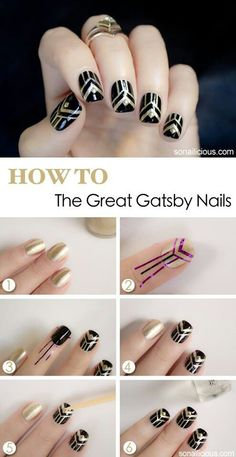 Great gatsby nails. Have been looking for a guide for these sooo long and finally!