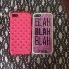 Vs iPhone 5c cases Both brand new Victoria's Secret Accessories Phone Cases