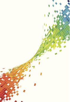 Абстрактный Красочный фон волны технологии рисунком в клетку векторная иллюстрация