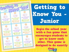 Getting to Know You - Junior