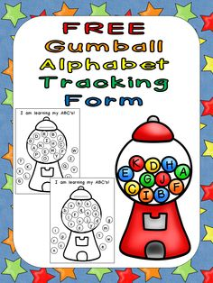 "This FREE form provides a super simple, visual way for students to track their learning of the letters of the alphabet!! As students learn letters, they will cover the known letters with ""color coded labels."" Students will be very motivated to fill up their gumball machine and will be very excited to take home their completed chart after they have mastered all of the letters!!"