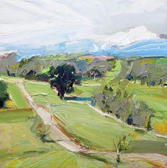 """New painting...""""The Road to Mt Buller"""", 70X70cm, oil on linen #new #painting #mtbuller #art #landscape #artwork #landscape"""