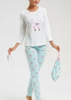 Bella Pijama Takımı - EKRU/YEŞİL Bloom Coffee, Dark Flowers, Little Star, Superstar, Pajama Pants, Model, Fashion, Moda, Sleep Pants