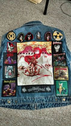 Updated Vest Finally finished my vest. Might replace savatage one day with a woven patch instead of the weird plastic. Combat Jacket, Battle Jacket, Vest Jacket, Punk Jackets, Denim Jackets, Hard Rock, Black Metal, Heavy Metal, Band Patches
