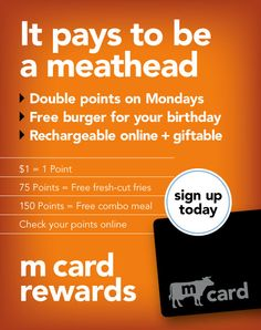 Today is Double Points Monday! http://www.meatheadsburgers.com/pages/m_card/53.php