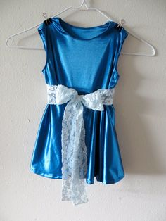 Teal Stretch Satin Dress  Size 1T by Tailored4Tots on Etsy, $35.00