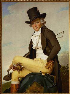 Jacques Louis David ritratto di Pierre Seriziat 1795 olio su tela Museo del Louvre, Parigi