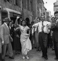 Flamenco dancers, circa 1950.