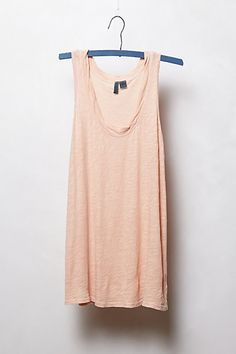 Twirled Scoop Tank in nude