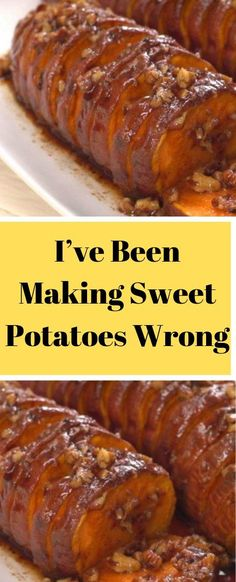 """I've Been Making Sweet Potatoes Wrong My Entire Life, And I Just Figured It. ""I've Been Making Sweet Potatoes Wrong My Entire Life, And I Just Figured It. ""I've Been Making Sweet Potatoes Wrong My Entire Life, And I Just Figured It Out"" - boumviral Sweet Potato Slices, Sweet Potato Pecan, Sweet Potato Recipes, Sweet Potato With Pecans, Potato Side Dishes, Veggie Side Dishes, Vegetable Dishes, Side Dish Recipes, Vegetable Recipes"