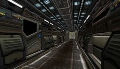 3D Sci Fi corridor made especially for a real-time TV show (22') called, 3DS Max