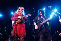 Ann and Nancy Wilson of Heart at DTE Energy Music Theatre on July 19, 2013. Photo by Ken Settle.