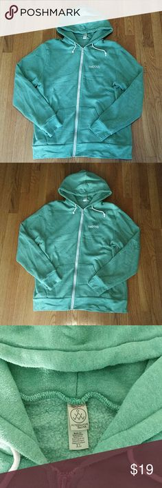 Google Helpouts Green Hoodie Mens XL Vintage condition and limited edition hoodie. Shows pilling and signs of wear. Super comfy. Alternative Earth Sweaters Zip Up